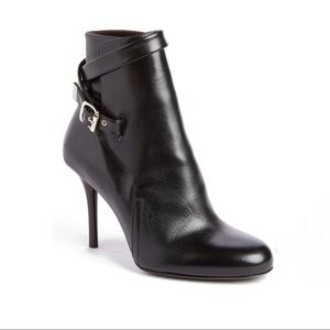 Chloe black leather ankle booties strap 36.5
